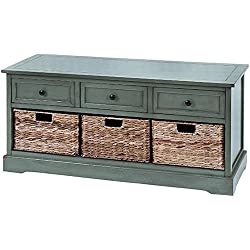 "Jefferson Bench, 20""Hx42""Wx16""D, BLUE"