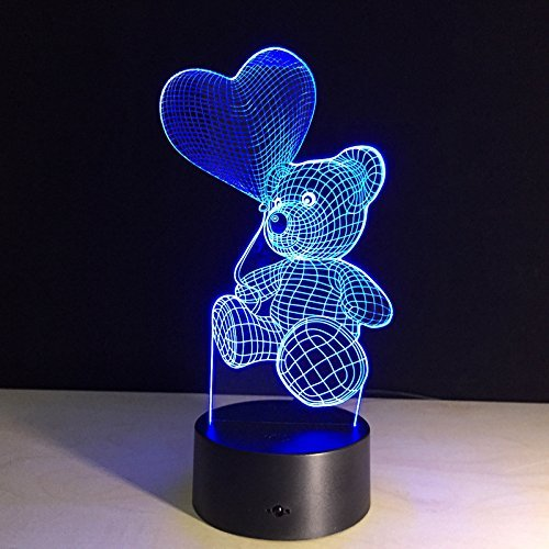 Gadgetized-3D-Illusion-Night-Light-for-Kids-Room-7-Color-Changing-Teddy-Bear-Soothing-Childs-Room-Lamp