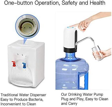 水差しポンプ、電気水ボトルポンプ、ユニバーサル3-5ガロンボトル用の自動飲料水ポンプ、キャンプ用ポータブルウォーターディスペンサー