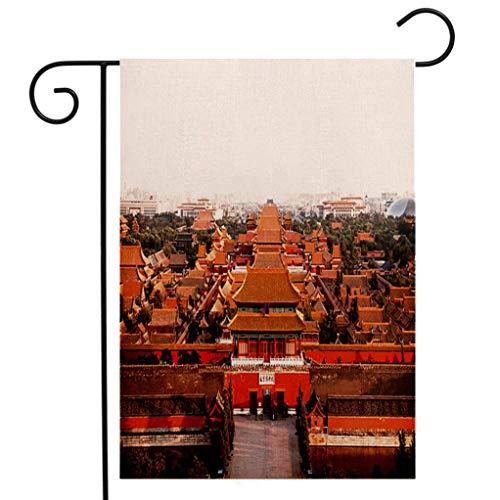 (BEIVIVI Custom Double Sided Seasonal Garden Flag The Forbidden City at Sunset Garden Flag Waterproof for Party Holiday Home Garden)