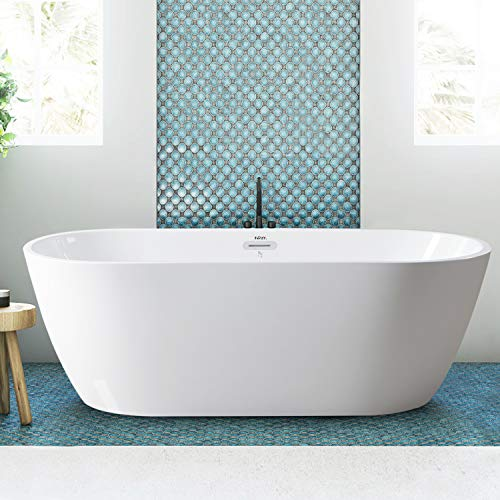 "FerdY Freestanding Bathtub 67"" Gracefully Shaped Freestanding Soaking Bathtub"