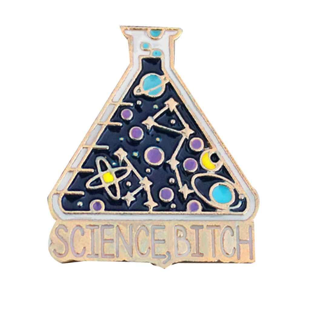 Demino Enamel Pin Heart Coffin Science Chemical Pin,Drop Oil Cobweb Brooch Unisex Pin Cartoon Lapel Pin Button Badges Bag Decoration