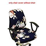 Stretchable Removable Computer Office Swivel Chair Cover, Simplism Style Computer Office Chair Covers, Protective Stretchable Universal Chair Cover Stretch Rotating Chair Slipcover
