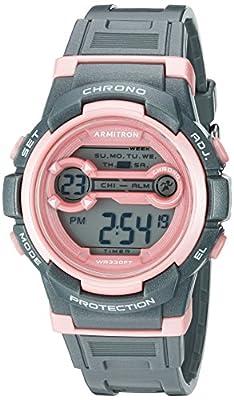 Armitron Sport Women's Quartz Resin Fitness Watch, Color:Grey (Model: 45/7064SGY)