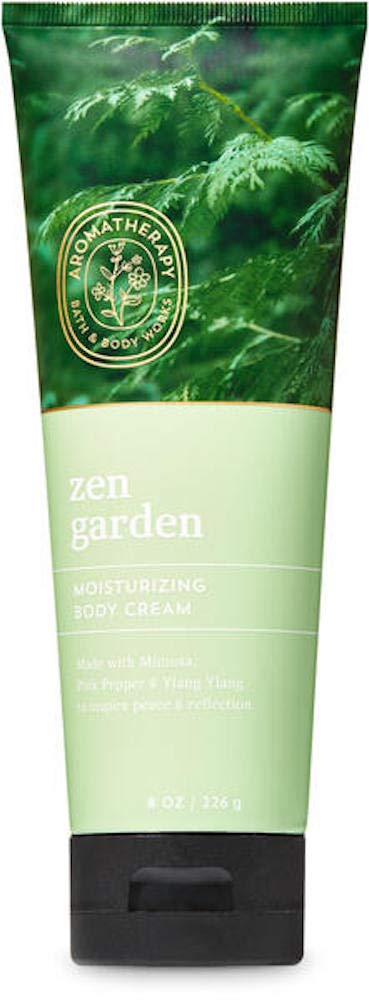 Bath and Body Works Body Care Aromatherapy Moisturizing Body Cream w/Essential Oils - 8 oz Many Scents (Zen Garden - Mimosa Pink Pepper Ylang Ylang)