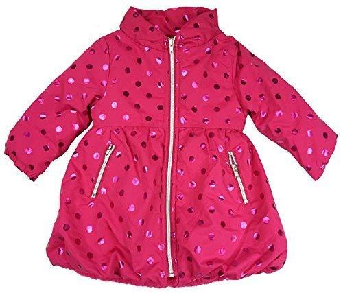 niña Penélope forro polar Polka acolchado abrigo rosa tallas desde 24 meses a 6 años -