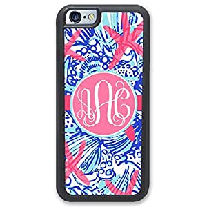 iPhone Case Starfish Summer Seashells Monogrammed iPhone Case - 5 5s - Hard Rubber Case - Black or White by ruishername