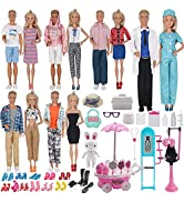 EuTengHao 90Pcs Doll Clothes and Accessories for 11.5'' Girl Doll and 12'' Boy Doll Doctor Nurse ...