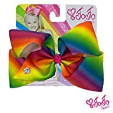 #7: JoJo Siwa Signature Collection Hair Bow - Rainbow With Sticker Patch Set Included