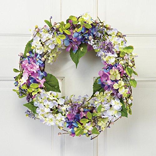 Floral Hydrangea Berry Door Wreath product image