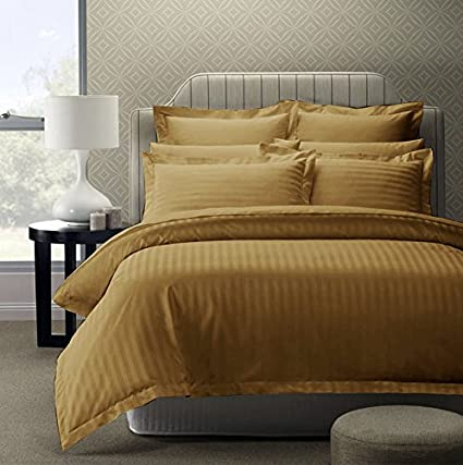04872a11b0 Story@Home Forever XL 300 TC Premium 100% Cotton Solid Satin Plain Bedsheet  for King Size Bed with 2 Pillow Covers, Brown: Amazon.in: Home & Kitchen