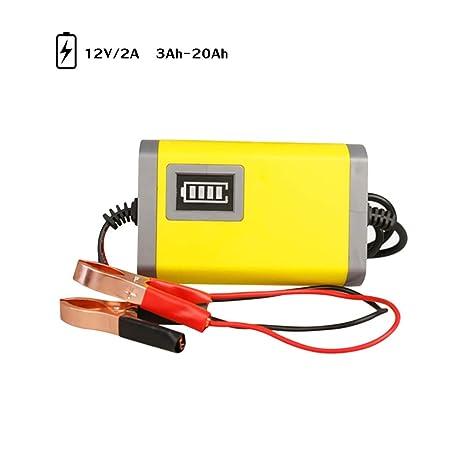 Cargador de batería para motocicleta de coche 12V 2A ...