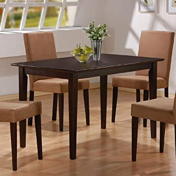 Coaster Home Furnishings Casual Style Cappuccino Finish Wood Dining Table P.Number 100491