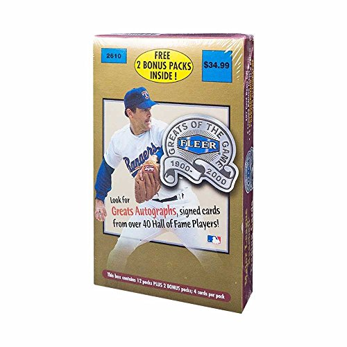 2000 Retail Box - 2000 Fleer Greats Of The Game Baseball 14ct Retail Box