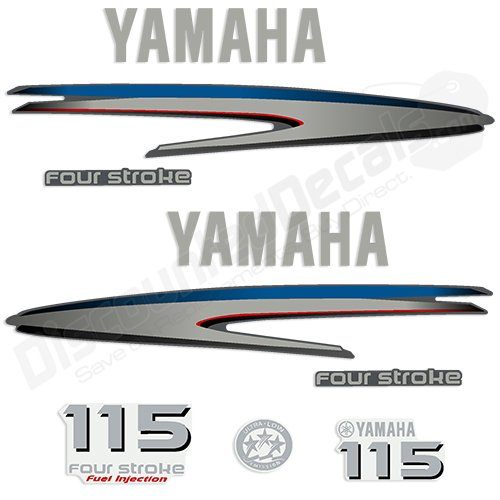 Amazon yamaha outboard 115hp 4 stroke decal kit fourstroke amazon yamaha outboard 115hp 4 stroke decal kit fourstroke decals stickers 115 hp sports outdoors sciox Image collections