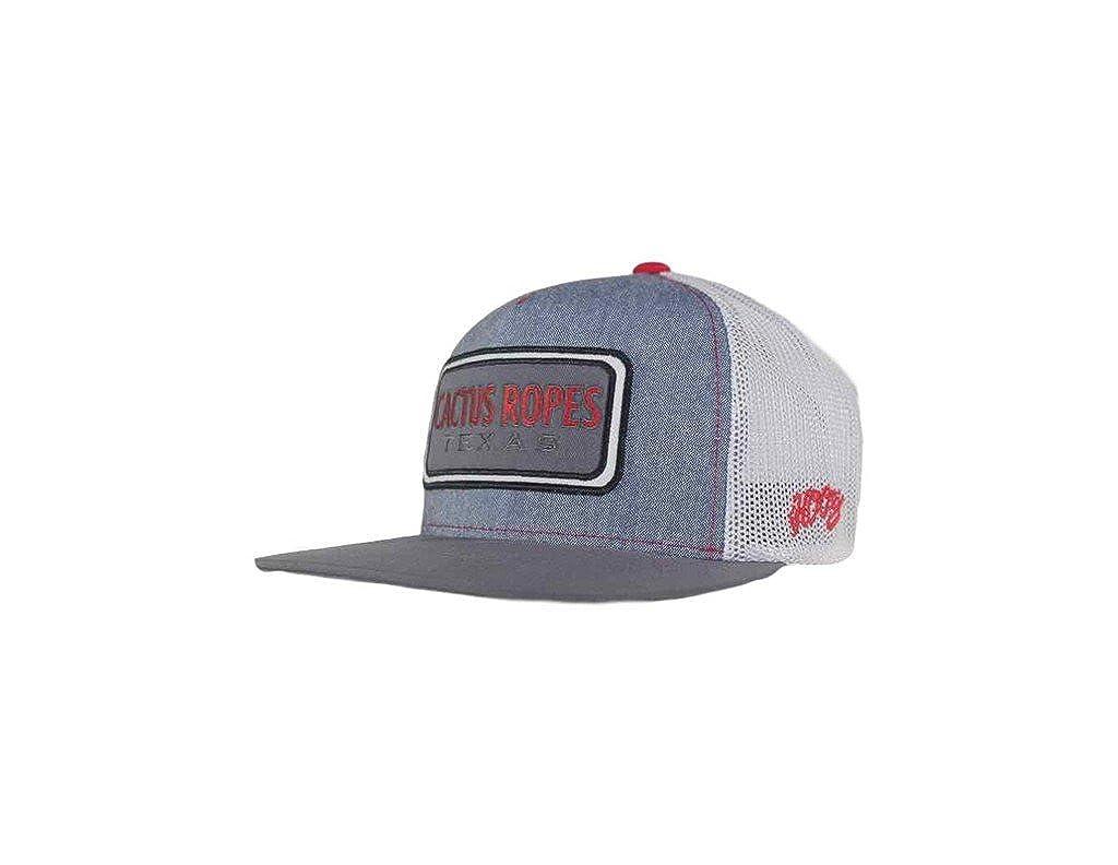 hot sale online 63784 b17b8 Amazon.com  Hooey Denim and White Cactus Ropes Trucker Cap (Youth)  Clothing