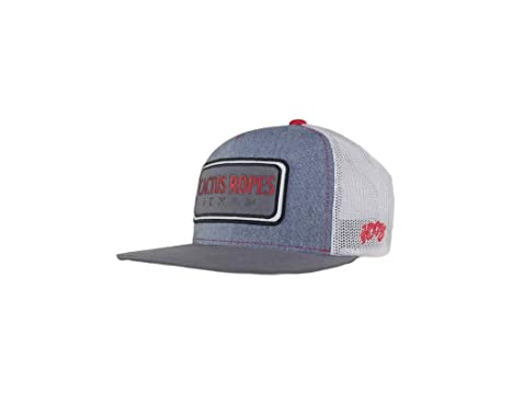 bb8373760 Hooey Denim and White Cactus Ropes Trucker Cap (Youth)