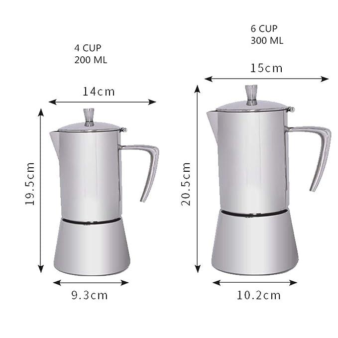 Wenzhihua Taza de Filtro de Cafe Moka Pot Mocha Coffee Pot ...