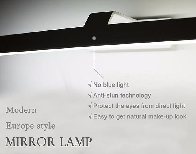 K bright lampe led de miroir w applique murale led blanc neutre