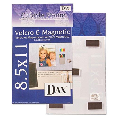 DAX N140285M Magnetic/Hook & Loop Cubicle Frame, Acrylic, 8 1/2 x 11, Clear