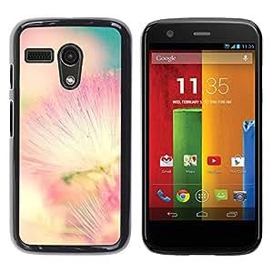 Be Good Phone Accessory // Dura Cáscara cubierta Protectora Caso Carcasa Funda de Protección para Motorola Moto G 1 1ST Gen I X1032 // Pink White Teal Nature Spring