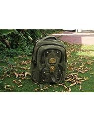 HandmadeCraft Outdoor Men WOMENs Vintage Canvas Backpack Rucksack School Satchel Hiking Bag