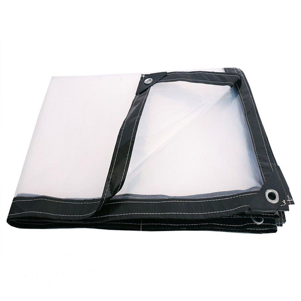 KKCF オーニング ターポリン トランスペアレント 防水 プラント倉庫 防塵の カーポート ポリエチレン 厚さ:0.12mm 、100G / M2 、16サイズ (色 : Translucent, サイズ さいず : 4x6m) B07FX2QB7T 4x6m|Translucent Translucent 4x6m