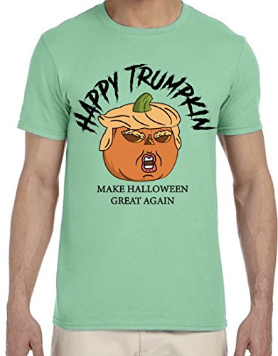 BROOKLYN VERTICAL Happy Trumpkin Make Halloween Great Again - Unisex Soft Printed T-Shirt Funny Costume (X-Large) -