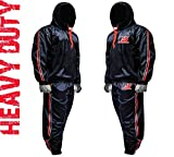 FIGHTSENSE MMA Sauna Sweat Suit Track Weight Loss Slimming Fitness Gym Exercise Training Added Hood