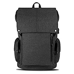 Tocode Laptop Backpack Water Resistant with USB Charging Port School Bag Anti-scratch Backpack for Business Travel for 15.6 Inch Laptop-Black