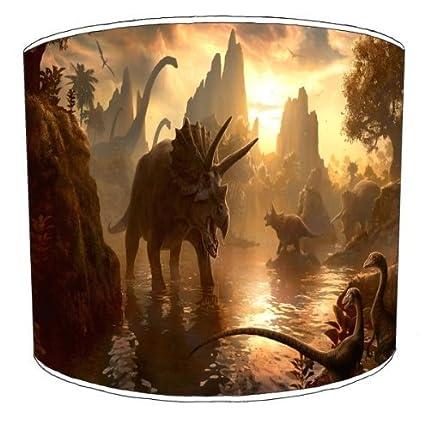 Premier Abat-Jour –  Scè ne de Plafond Dinosaur Abat-Jour pour Enfant, Plastique Mé tal, Multicolore, 20,3 cm Plastique Métal Premier Lampshades