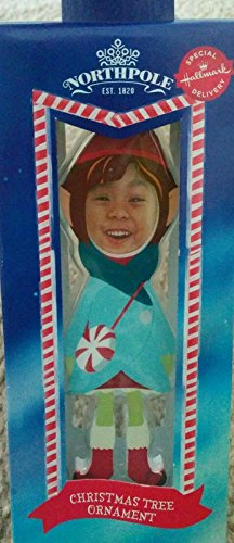 Hallmark Northpole Movie Elf Photo Customized Hanging Ornament (Girl) (Christmas Elf Pictures)