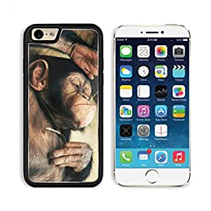 Funny Lazy Monkey Bubble gum Mogo Outlet iPhone 6 Cover Premium Aluminium Design TPU Case Open Ports Customized Made to Order