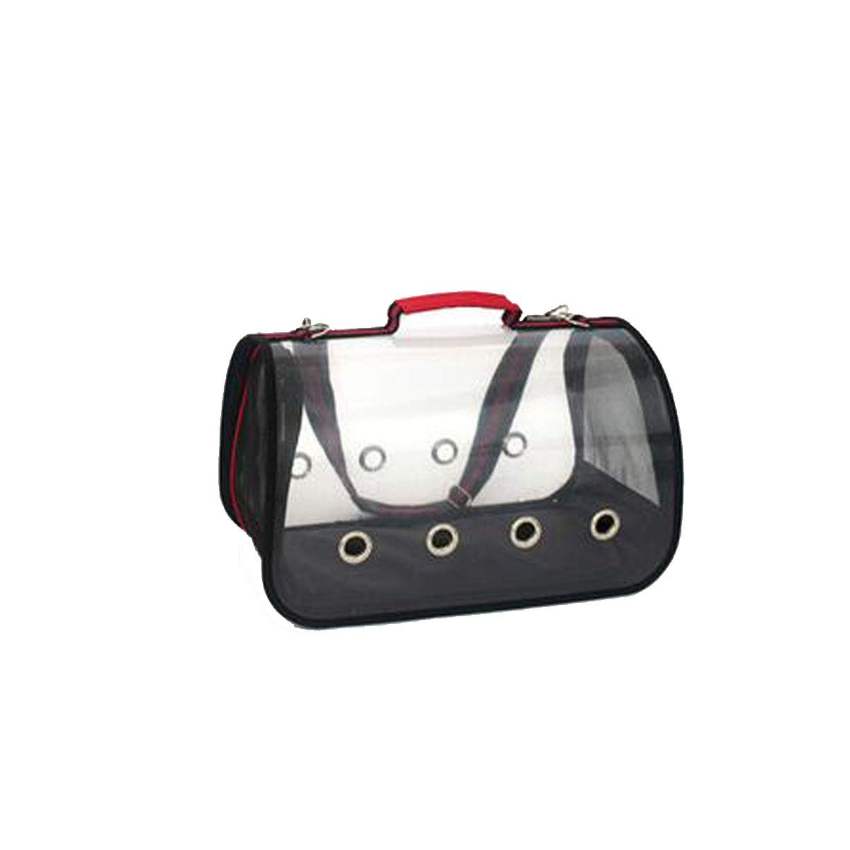 Red Fully Transparent Pet Bag, Pet Carrier Suitable for Outdoor Travel, Hiking, Camping Pet Bag Teddy, Cat Outing Package (color   Red)
