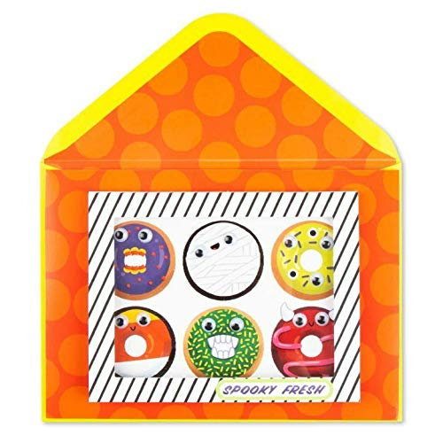 Greeting Halloween Card Monster Donuts Panic Halloween Is A HOLE Bunch Of Fun Card]()