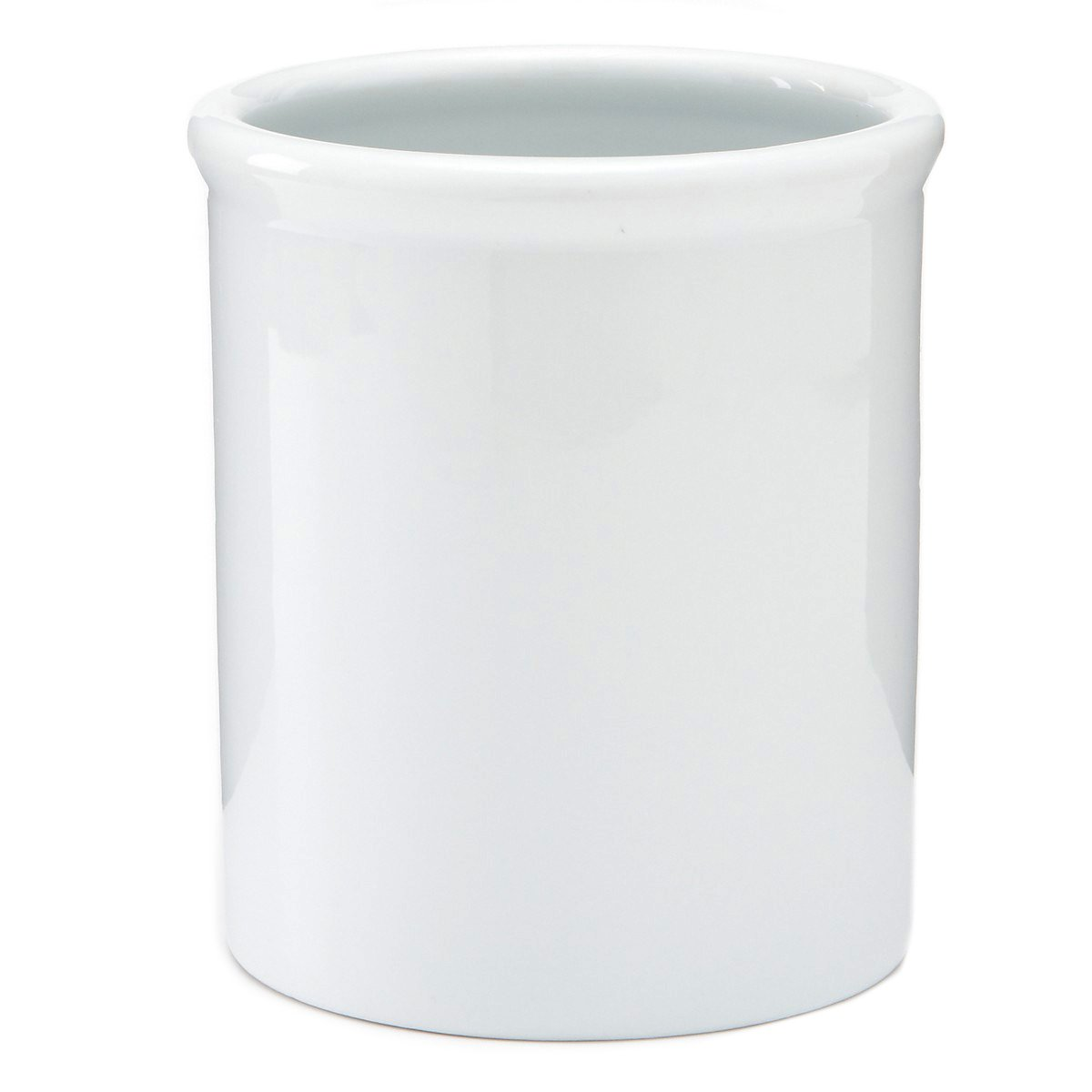 2PO Pure White Porcelain Large Utensil Holder 6.5