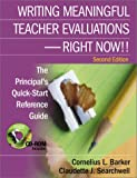 img - for Writing Meaningful Teacher Evaluations - Right Now! Second Edition The Principal's Quick-Start Reference Guide book / textbook / text book