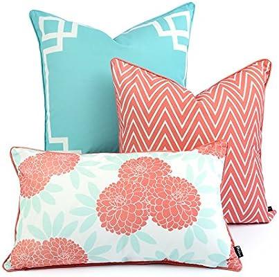 Amazon Hofdeco Decorative Throw And Lumbar Pillow Cover INDOOR Mesmerizing Decorative Outdoor Lumbar Pillows
