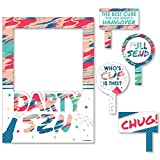 Big Dot of Happiness Darty SZN - Day Drinking Party Season Photo Booth Picture Frame & Props - Printed on Sturdy Material