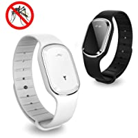 Volwco Ultrasonic Mosquito Repellent Bracelet, 2Pcs Electronic Mosquito Insect Repellent Wristband Band USB Rechargeable…