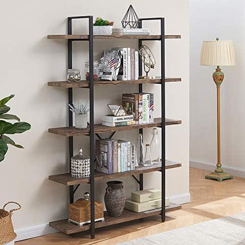 Superjare 5-Shelf Industrial Bookshelf - a good cheap modern bookcase