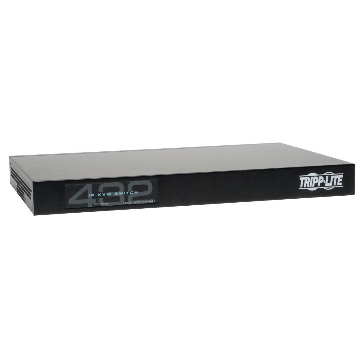 TRIPP LITE 32-Port Cat5 KVM Over IP Switch 1 Local 4 Remote 16 USB Dongles, Black (B072-032-IP4-K) by Tripp Lite (Image #1)