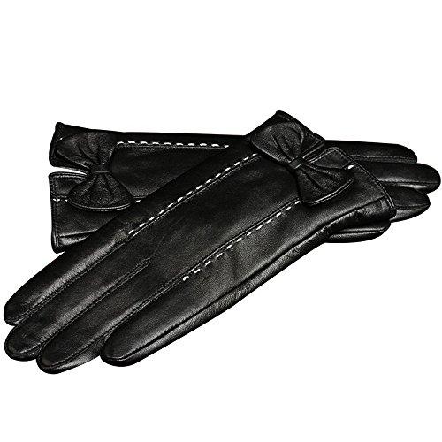 負パトロンペーストYouchan(ヨウチャン) 手袋 レディース グローブ 革 レザー ステッチ 上質 リボン ギフト プレゼント スマホ対応 小物