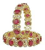 MUCHMORE Bollywood Awesome Style Gold Tone Diamond Indian Bangles Traditional Jewelry (2.4)