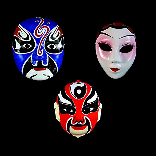 XDOBO Hand-painted Chinese Quintessence Costume Face Mask Peking Opera Masks, Value Pack 2