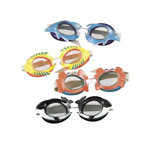 Tropical Swim Goggles 12 pack