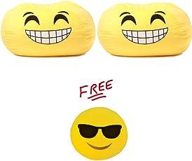 GoMoji Emoji Ergonomic, Soft Fur, Durable, Bean Bag Chair