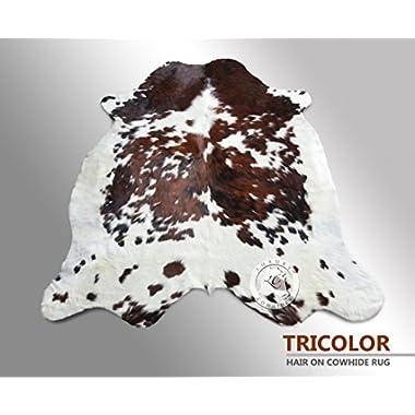 Tricolor Cowhide Rug Large Size 5ft x 7ft 150cm x 210cm - Top Quality