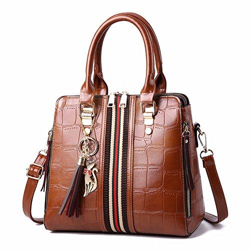 Bolso Hecho Bag CCZUIML Mano Crossbody Mano marrón Rojo a de f5F5wq4
