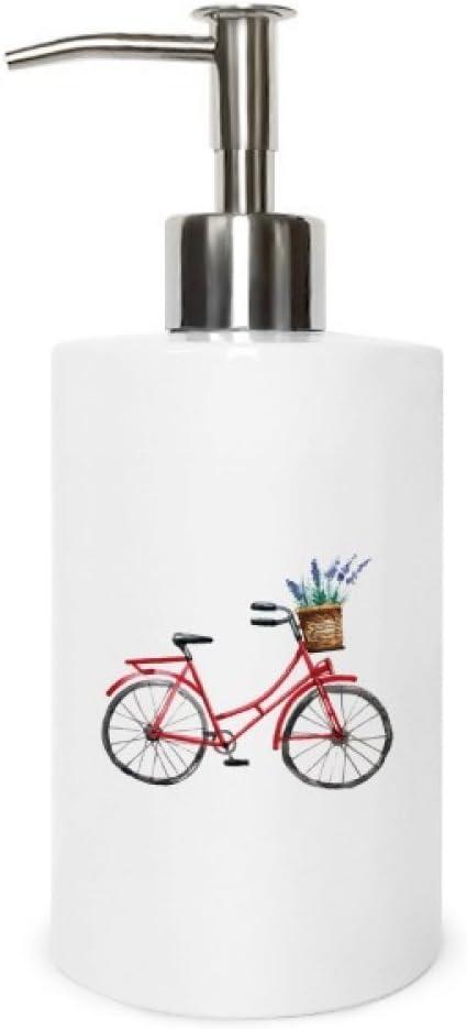 DIYthinker Dispensador de jabón de metal para bicicleta, lavanda ...